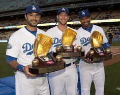 Ethier, Kershaw, Kemp - 2011 Gold Gloves