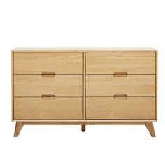 Arlen 3+3 Drawer Chest, Oak | Chest of Drawers | Bedroom 3 Drawer Chest, Chest Of Drawers, Barker And Stonehouse, Dressers, Storage Shelves, Bed Frame, Bedroom Furniture, Master Bedroom, Range