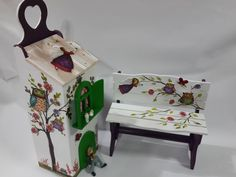 Meral Sanatevi - Handmade - painting -craft house-one stroke Decoupage, Dollhouse Furniture, Painting On Wood, Home Crafts, Craft Projects, Craft House, Handmade, Vintage, Strong