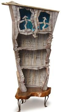 Check out Dale Talley! He'll be at the festival for the first time this year displaying his mixed media furniture and wall art--created from street signs, tree bark, old pans, fallen trees--come see it in person and snag some for yourself! October 19-20 in Northport, AL.