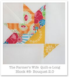 Farmer's Wife Quilt-a-Long - Block 8 by Happy Zombie, via Flickr... I think I need a quilting blog too...