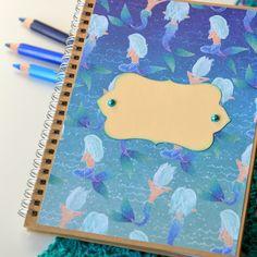 """Hnědý Zápisník """"MOŘSKÁ PANNA"""", A5 / od Tvoření s radostí   Fler.cz Panna, Origami, Notebook, Origami Paper, The Notebook, Origami Art, Exercise Book, Notebooks"""