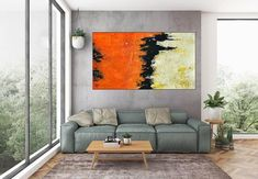 Abstract Art-Original PaintingContemporary ArtDine Room Wall image 3 Large Artwork, Large Canvas Art, Abstract Canvas Art, Extra Large Wall Art, Oversized Wall Art, Office Wall Art, Room Wall Decor, Wall Prints, Shades
