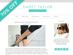 Check out 70% Off Sweet Taylor WordPress Theme by Studio Mommy on Creative Market