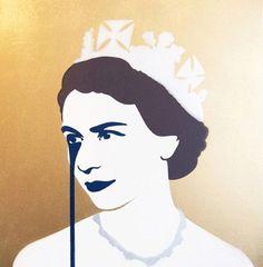 Pure Evil Print. 'Prince Philip's Nightmare. Silver & Gold'. 4 Colour Screenprint on 330gsm Fedrigoni Paper. 85cm x 70cm. 181/200. 2013.