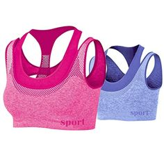 Topmelon Double Layer Seamless Sports Bra High Impact Racerback Yoga Sports Bra -- Check this awesome product by going to the link at the image.Note:It is affiliate link to Amazon.