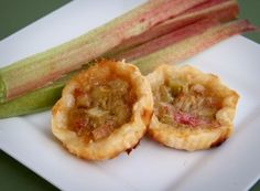 "Rhubarb tarts -The original version of this recipe came from my local community newspaper at least 10 years ago. I'm not sure what encouraged me to tear out the section on ""Rhubarb adds zing to… Rhubarb Butter, Rhubarb Tart, Rhubarb Desserts, Rhubarb Recipes, Köstliche Desserts, Tart Recipes, Fruit Recipes, Gourmet Recipes, Baking Recipes"