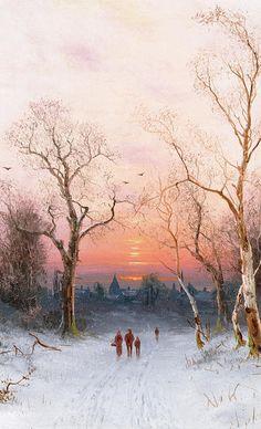 """Going Home"" by Nils Hans Christiansen (Danish. 1850-1922) - More at http://www.wikigallery.org/wiki/artist47402/Nils-Hans-Christiansen/page-1 (Thx Lisa)"