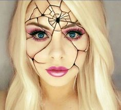 Inspiration for a crocheted spider web-mask