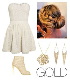 """""""Fancy Gold"""" by malia-b ❤ liked on Polyvore"""