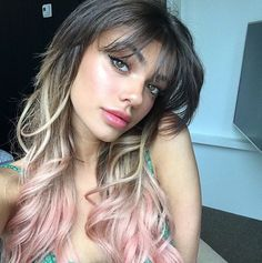 Find images and videos about dress, icon and pink hair on We Heart It - the app to get lost in what you love. Cut Her Hair, Hair Cuts, Hair Inspo, Hair Inspiration, Kelsey Calemine, Hot Haircuts, Hair Addiction, Natural Hair Styles, Long Hair Styles