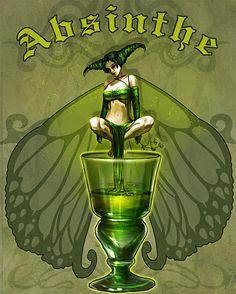 Absinthe Green Fairy Art - THIS ONE!!!