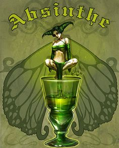 Absinthe Green Fairy Art - THIS ONE!!!