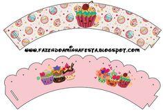 Fazendo a Minha Festa - Kits Completos: Cupcakes Fofinhos - Kit Completo com molduras para convites, rótulos para guloseimas, lembrancinhas e imagens!