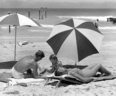 A family enjoying their day at the beach (1950) | Florida Memory