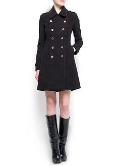 Corduroy military coat by Mango