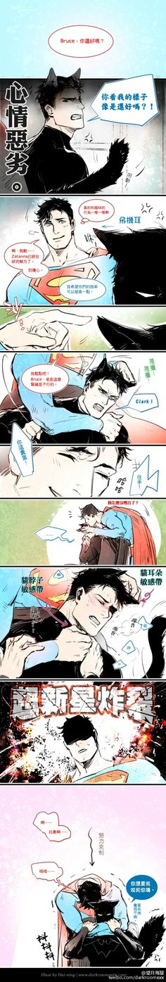 Batman, why u blushing? XD  ^ HE'S EMBARRASSED THAT'S WHY LOL actually idk xD
