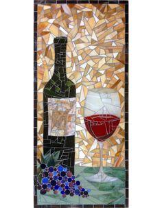 Wine Cellar Mosaic by mosaic artist Dyanne Williams