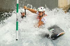 RIO DE JANEIRO, BRAZIL - AUGUST 08: Gauthier Klauss and Matthieu Peche of France compete during the Men's Canoe Double Slalom (C2) heats on Day 3 of the Rio 2016 Olympic Games at the Whitewater Stadium on August 8, 2016 in Rio de Janeiro, Brazil. (Photo by Mark Kolbe/Getty Images)