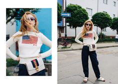 """Stella von Senger shows how to style the """"fanny pack"""" into a far more modern and fashionable """"belt bag"""" over on Man Repeller, today on hey-woman!   ©Sandra Semburg"""