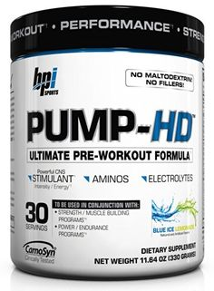 BPI Pump-HD Ultimate Pre-Workout Formula, Blue Ice Lemonade, ** You can get additional details at the image link. Best Pre Workout Supplement, Pre Workout Nutrition, Sports Nutrition, Fit Board Workouts, Fun Workouts, Muscle Builder, Cycling Workout, Excercise, Lemonade