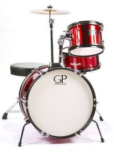 3 Piece Junior Kit w/Cymbals, Throne & More - Metallic Red - Long & McQuade - GP