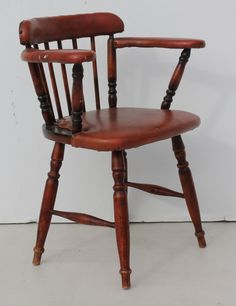 Stained Chair with Seat Covered with Vinyl size: Call 0767064700