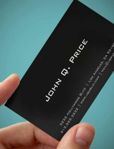 Simple Plain Black Business Cards, #AwesomeProducts #businesscards