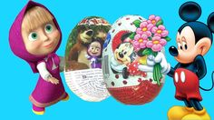 Kinder Surprise Eggs Masha and the Bear Kinder Surprise Mickey Mouse Сюр...
