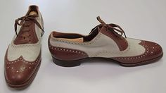 Oxford Shoes - in the 1920s oxfords became the more popular style over high shoes. Two toned oxfords were worn in the summer.