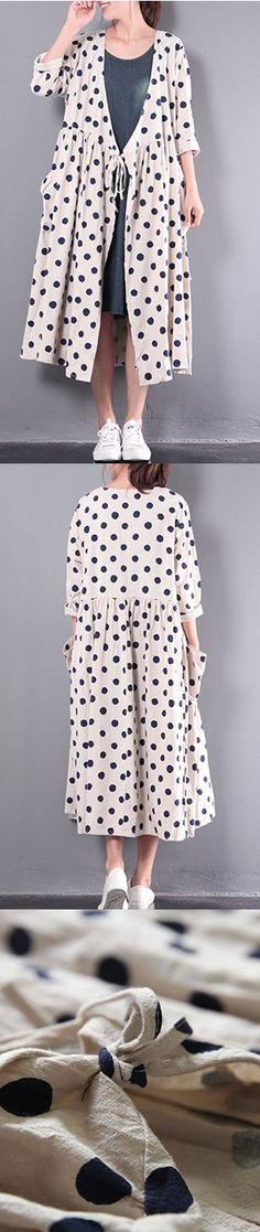 2017 new white stylish linen dresses plus size outwear long sleeve cardigans