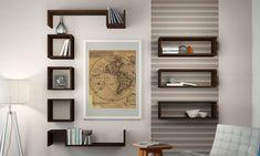 Book Racks, Wall Shelves, Bookcase, Sweet Home, Gallery Wall, Living Room, Bedroom, Frame, Home Decor