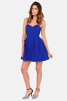 LULUS Exclusive Backyard Banquet Backless Royal Blue Dress