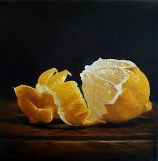 Peeled Lemon by Lillemut on DeviantArt Lemon Drawing, Still Life Drawing, Fruit Painting, Oranges And Lemons, Juicy Fruit, Realistic Paintings, Color Pencil Art, Food Drawing, Botanical Drawings