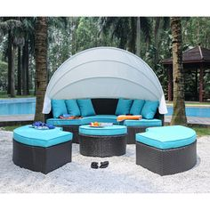 Shop for Furniture of America Ibiza 4-piece Outdoor Canopy Sofa Set. Get free delivery at Overstock.com - Your Online Garden