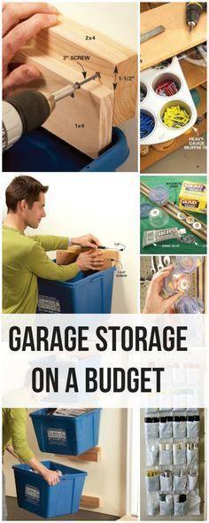 Garage Storage on a Budget • Ideas and tutorials!