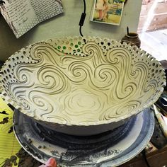I'll ride the wave where it takes me click now for more info. Slab Pottery, Pottery Bowls, Ceramic Pottery, Ceramic Clay, Ceramic Painting, Ceramic Bowls, Pottery Lessons, Pottery Classes, Pottery Patterns