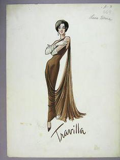 """Leading costume designer William Travilla, known simply as """"Travilla"""""""