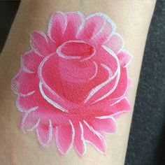 #Junechallenge #day2 #2minorless #rose  #facepaint  #facepainting  #facepaintchallenge