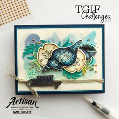 #TGIFC308 — Inspiration Challenge | Swimming In Stamps Masculine Birthday Cards, Masculine Cards, Nautical Cards, Friends Are Like, Stamping Up Cards, My Stamp, Creative Cards, Your Cards, Sea Shells