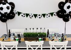 Kick start the FIFA World Cup tournament with a viewing party sports rivals can all enjoy together. Soccer Birthday Parties, Football Birthday, Soccer Party, Sports Party, Birthday Party Themes, Football Soccer, Birthday Ideas, Soccer Baby Showers, Soccer Banquet