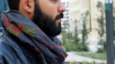 Saru scarves for men, palestinian handmade colorful scarves. http://sarufashion.blogspot.com/2014/01/palestinian-parametric-patterns.html