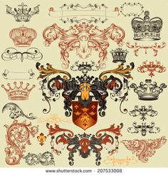 Warriors Around The World (Vector Pack No.4). Collection Of An Hand Drawn Illustrations (Originals, No Tracing). Each Drawing Comprises Of Two Layers Of Outlines,The Colored Background Is Isolated. - 189527606 : Shutterstock
