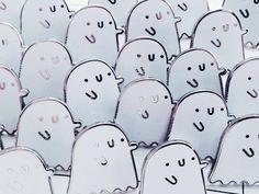 Little hard enamel ghost pins - £6 ©alexandracook illustration.