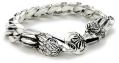 King Baby Men's Eagle Sterling Silver Bracelet