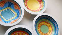 hand painted wooden bowls - Pesquisa Google