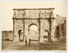 Italia, Roma, Arco di Costantino  Vintage albumen print. Italy.   Tirage albuminé   20x26   Circa 1875