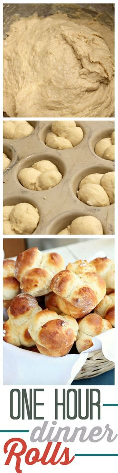 This is the Best One Hour Roll Recipe out there. If you want to make them look extra fancy turn them into Clover Rolls. Perfect for Thanksgiving, Christmas and Easter ~ http://reallifedinner.com