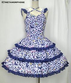 Jewel Leopard Low Waist Pinafore Dress-BS