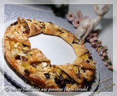 Gourmande sans gluten: Couronne feuilletée aux pommes façon strudel